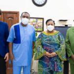 Rev. Korankye Ankrah, Apostle Dr Sagoe visit first lady