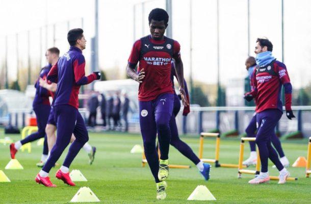 Ghanaian teen Kwaku Oduro trains with Man City first team ahead of Champions League tie