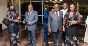 PHOTOS: When Charlotte Osei met Prez Akuffo-Addo for the first time since her sack