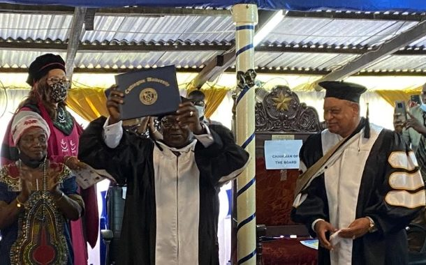 Speaker of ECOWAS Parliament conferred with an honorary Doctorate