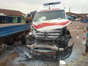 PHOTOS: Ambulance carrying pregnant woman involved in accident