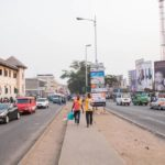 Traders operating in median of street at Accra's Central Business district moved