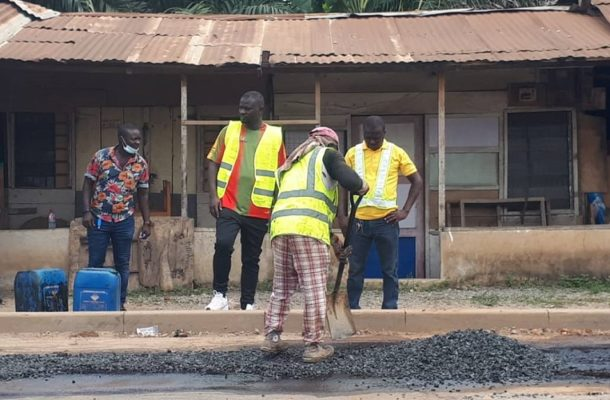 Road construction works resume in Nsawam-Adoagyiri constituency