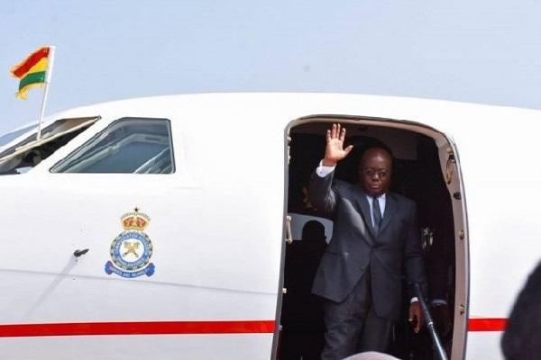 Akufo-Addo leaves Ghana to Congo