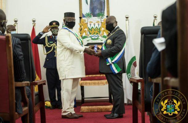 Akufo-Addo receives Sierra Leone's highest national award