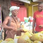 Meet the woman who sells coconut with her husband to support family