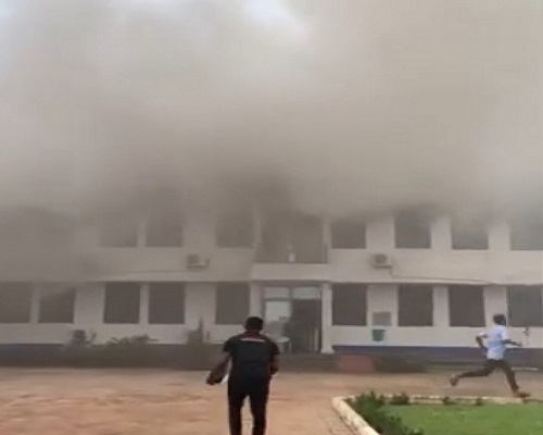 VIDEO: Fire guts Mampong Technical College Of Education