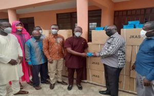 MP for Upper West Akim, Frederick Adom donates to schools