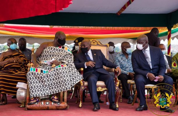 Kumasi: Akufo-Addo cuts sod for construction of residential facilities for Appeal Court judges