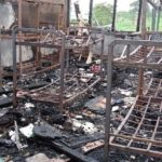 PHOTOS: Nsutaman SHS girls' dormitory destroyed by fire