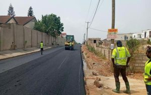 PHOTOS: Philanthropist Atta Frimpong constructs ultra-modern asphalt road in Accra