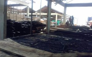 Fire ravages 10 shops at Sokoban Wood Village