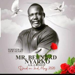 PHOTOS: Bernard Nyarko's family visits his grave to mark 1st year of his death
