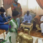 Diana Asamoah goes on her knees to beg for forgiveness from Ga Traditional Council