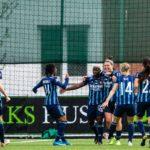 Black Queens captain Elizabeth Addo scores for Djurgarden