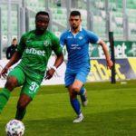 Bernard Tekpetey scores as Champions Ludogorets lose to Plovdiv