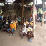 N/R: Pupils of Bombari primary school study under dilapidated hut