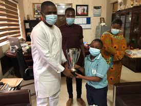 African U-9 Chess champion Chief Dave Quansah visits Sports Minister