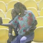 GPL: Couples 'chop' love in the stands during Legon Cities vs Kotoko game