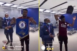 VIDEO: Daniel Amartey courts controversy after throwing away Chelsea pennant in FA Cup win