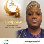 NDC- UK/ Ireland Chapter sends Eid-Al Fitr message to Muslims