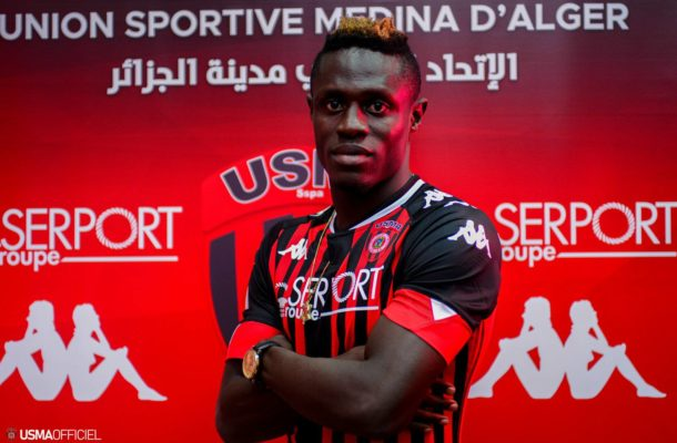 VIDEO: Watch Kwame Opoku's first goal for USM Algiers against MC Algiers