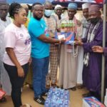 Legon Cities board chairman donates items and cash to Muslim community in Oti Region