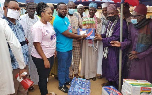 Legon Cities board chairman donates items and cash to Muslim community in Oti Region