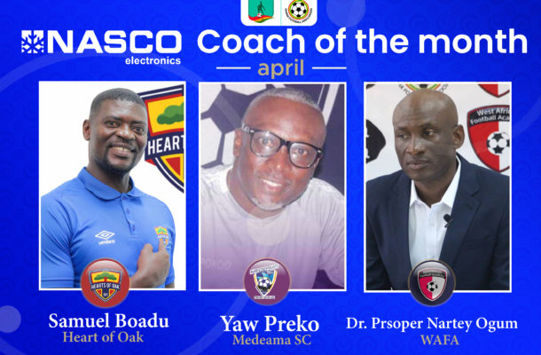 Three coaches battle for NASCO coach of the month April award
