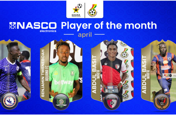 Four players contest for NASCO Player of the Month April