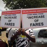 Uber, Bolt drivers demonstrate in Kumasi