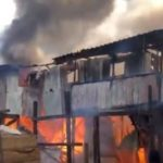 Fire sweeps through timber market in Accra