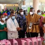 Annoh-Dompreh donates Pulse Oximeter gadgets to Nsawam hospital