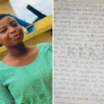 Sunyani: Here's a complete suicidal note left by late Leticia Pinaman