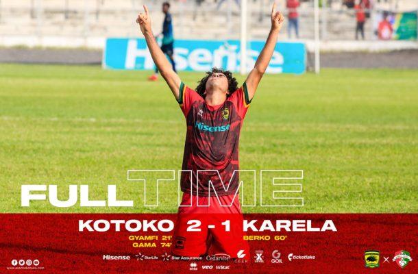GPL: Fabio Gama's penalty against Karela sends Kotoko top of the league for now