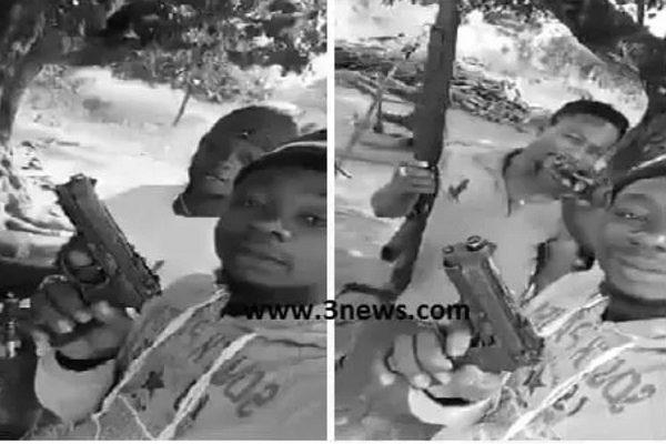 Men who were wielding guns in a viral video arrested