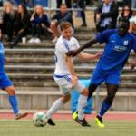Ghana's Raphael Assibey-Mensah scores for TSV Schott Mainz in Stuttgart defeat