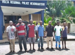 PHOTO: 7 men arrested for killing a 12 year-old boy for rituals in Volta Region