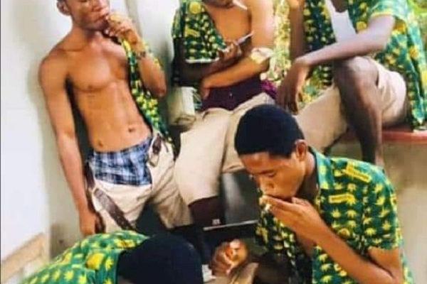 Photo of SHS students smoking wee on campus causes stir