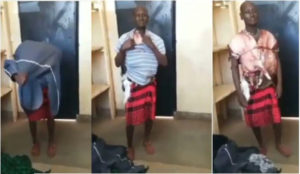 VIDEO: Man caught with stolen meat strapped around his body like bullet proof