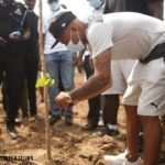 PHOTOS: Andre Ayew leads Black Stars to embark on Green Ghana campaign