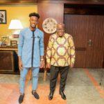 PHOTOS: Chelsea winger Callum Hudson-Odoi pays visits to Prez Akufo-Addo