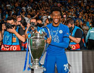 VIDEO: Chelsea winger Callum Hudson-Odoi touches down in Ghana after Champions League triumph