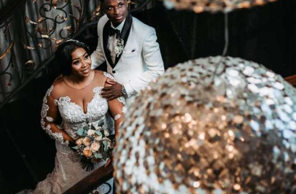 PHOTOS: Ghanaian winger Evans Mensah ties the knot with Justin Amoabeng