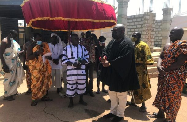 George Andah installed as a Chief