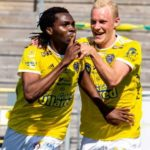 Kwame Kizito scores for Falkenberg after 10 month injury lay off