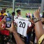 PHOTOS: Hearts fans present Callum Hudson-Odoi customized Hearts jersey