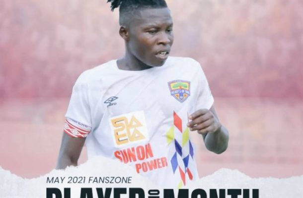 Hearts supporters name Ibrahim Salifu as Player of the Month May