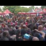 NPP faithful mob Bawumia at Sir John's funeral