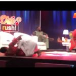 VIDEO: Ali of Date Rush falls on stage in an attempt to lift Shemina on Live TV